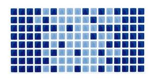 Revestimento Arvoredo Esmaltado Brilhante Azul 10x20cm
