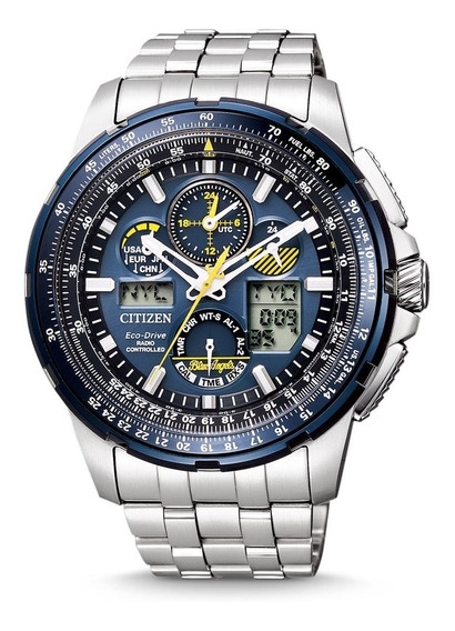 Reloj Hombre Citizen Blue Angels Jy8058-50l Radio Control