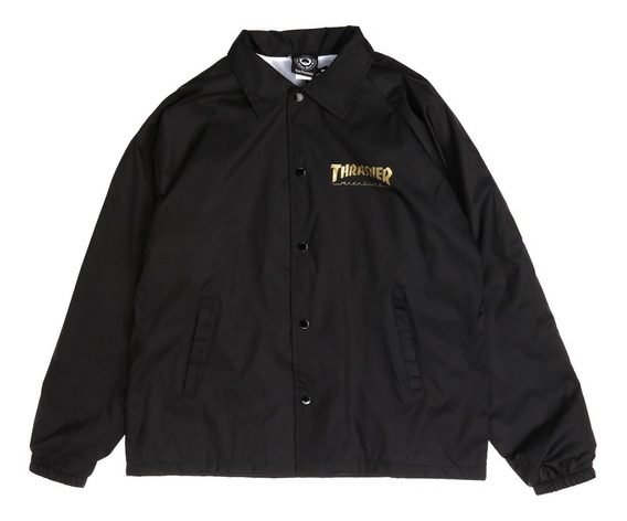 Jacket Thrasher Pentagram Coach Jacket Black