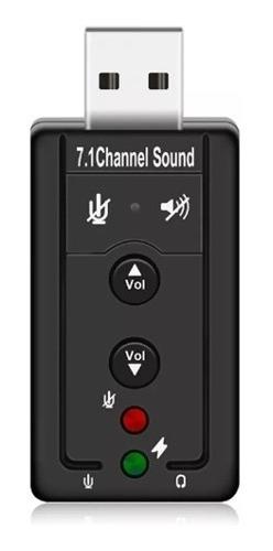 Placa De Som Usb 7.1 Canais 3d Adaptador Audio Pc Notebook