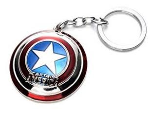 Llavero Metalico Avengers Diseño Capitan America Silver