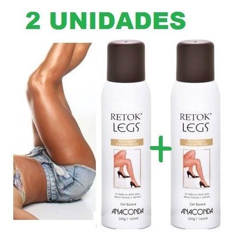 02 Unid. Retok Legs Meia Calça Spray Maquiagem P/ Pernas