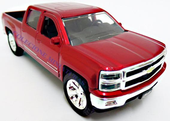 Chevrolet Chevy Silverado Pickup Ano 2014 Vermelha Jada 1:32