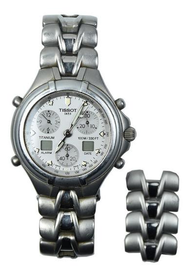Relógio Pulso Prata Cristal Safira Usado Tissot Swiss T670