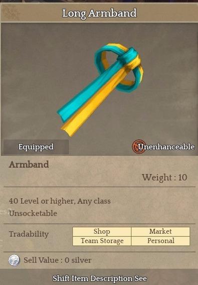 Long Armband - Item Tree Of Savior (tos) [sa] Silute Hat