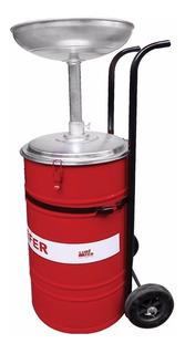 Coletor De Oleo Lubefer Com Carrinho 50 Litros Modelo Col2