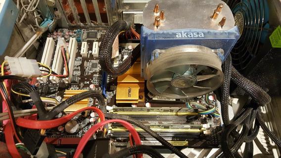 Kit Core2duo 7400 + Mb Asus P5qle + 4 Gb + Cooler
