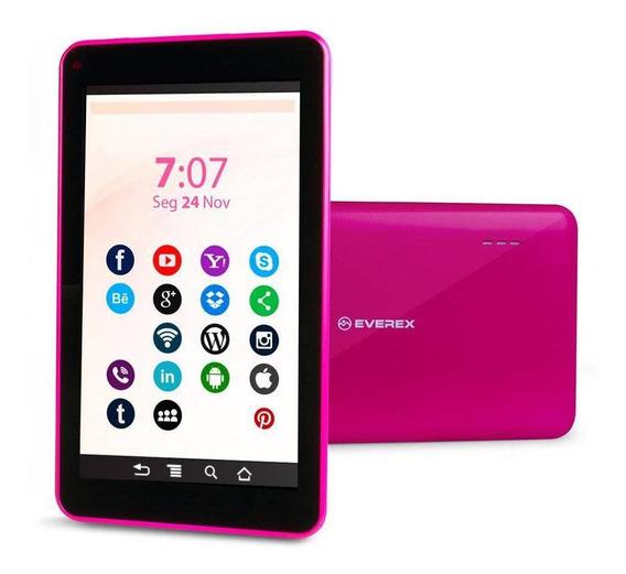 Tablet Everex 7 Quadcore 1gb 8gb Android 8.1 Go Rosa