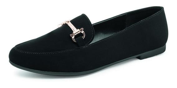 Zapato Casual Para Dama Estilo Mocasín Negro