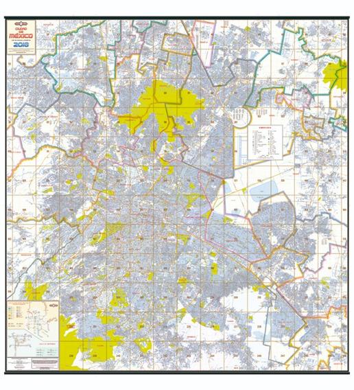 Mapa Mural Ciudad De Mexico 2018 Plastificado