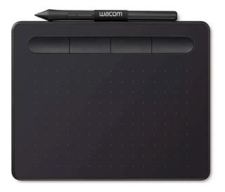 Kit Wacom Tableta Digitalizadora Intuos Small Pluma 4k Negro