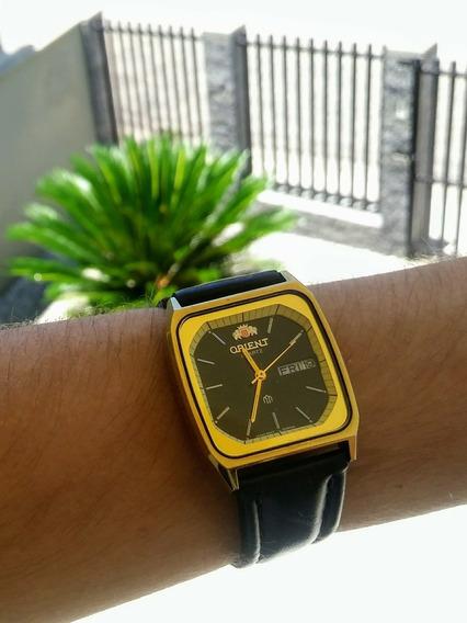 Raro Relógio Antigo Orient, Quartz Caixa Dourada, Impecavel!