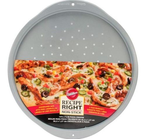 Imagen 1 de 5 de Molde Pizza Pizzera Microperforado Fuente Wilton Titanweb