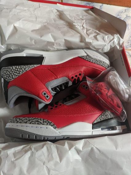 Tenis Air Jordan 3 Retro Red Fire Cement 40