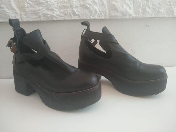Zapatos Negros Ossira - Plataforma