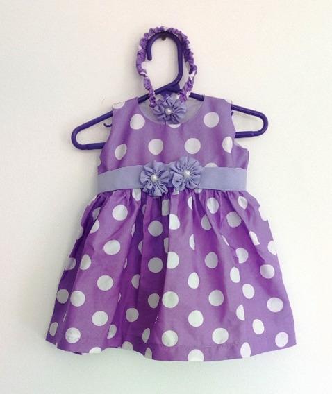 Vestidos Para Niña 6 A12 Meses Casuales Pepas Y Fiesta+tiara