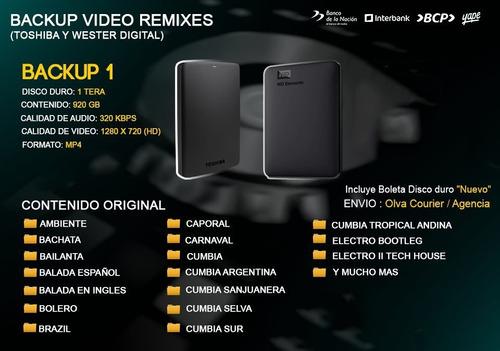 Video Remix 1 Tera Disco Duro Nuevo
