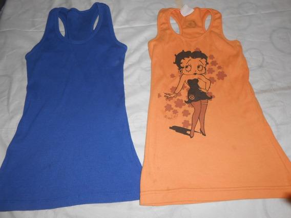 Son 2 Musculosas Lolis Naranja Y Otra Muy Bonitas!!