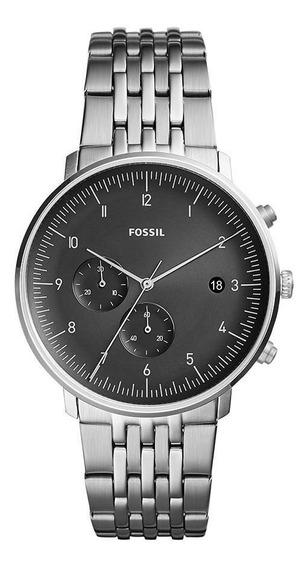 Relógio Fossil Chase Masculino Prata Fs5489/1pn