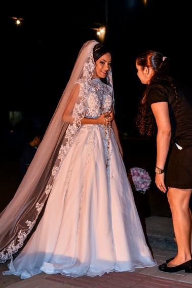 Vestido De Noiva Branco.