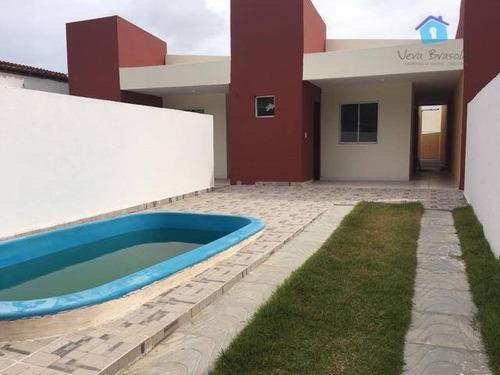 Casa 2 Qts Com Suíte,piscina E Terraço E Apenas +/- 500 Metros Da Praia - Ca0387
