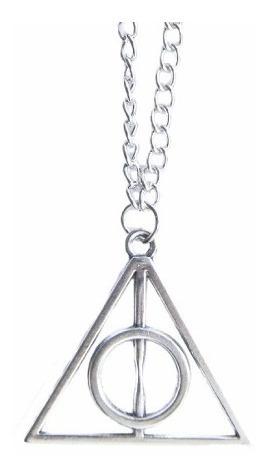 Colar Harry Potter Reliquias Da Morte Com Centro Giratório