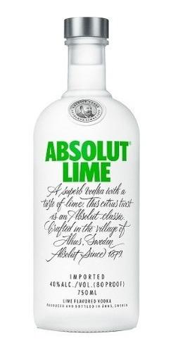 Absolut Lime Vodka Suecia Botella De 750 Ml Lima