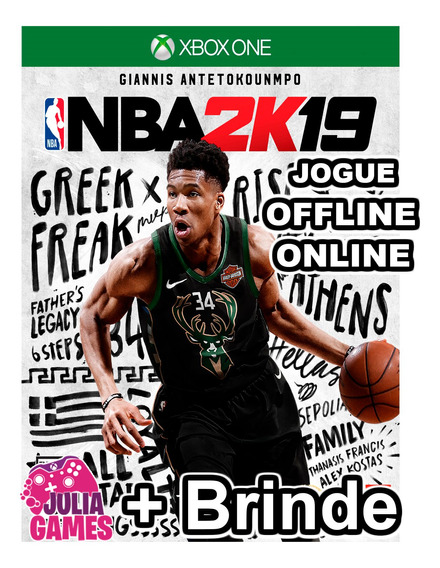 Nba 2k19 Xbox One Midia Digital + 1 Jogo De Brinde