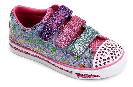Tênis Feminino Infantil Skechers Starry Party C/ Luz Led