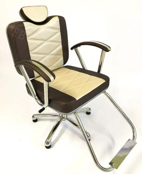 Poltrona Cadeira Reclinável Esmeralda, Móveis Cabeleireiro
