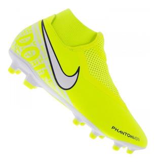 Chuteira Nike Phantom Vision Academy Limão