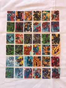 Coleção Elma Chips Montáveis Heróis Marvel Completa