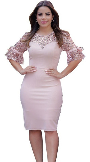 Vestido Moda Evangélica Elegante Festa, Temos Kauly, Nk3
