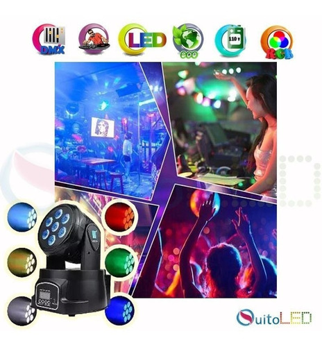 Luz Led Robótica Luces Dmx Spot Ideal Para Bar Ò Discoteca