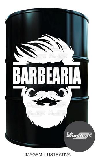Adesivo Decorativo Barbearia / Tambor/tonel/vidro 63x45cm