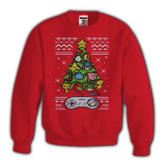 Sudadera Ugly Sweater Pino Navidad Super Smash Bros Mario Bross Nintendo 64 Ugly Sweater