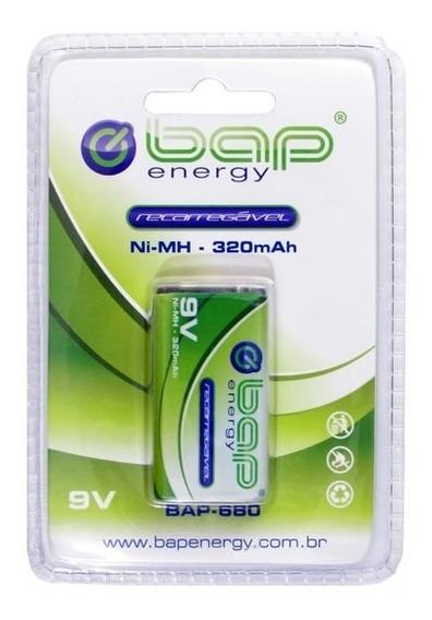 Bateria Recarregável 9v Bap 680 + Nf E Garantia!