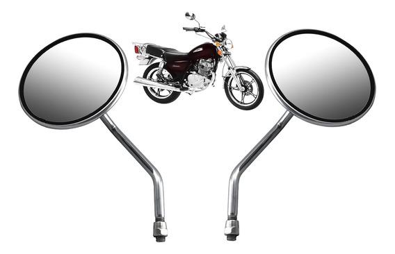 Retrovisor Moto Universal Cb 400/cb 450 Custom Cromado Par