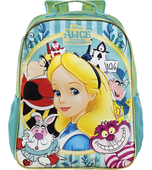 Kit Mochila Costas Lanch Estojo Alice Secret Garden-xeryus