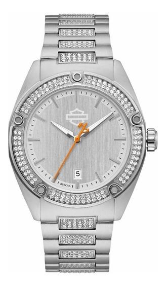 Reloj Harley Davidson Para Dama Con Cristal Swarovski 76l187