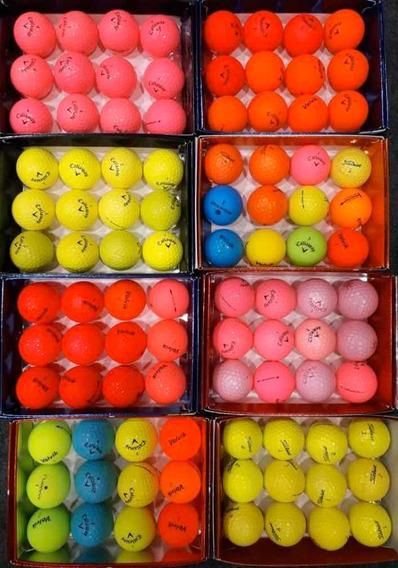 Pelotas De Golf Usadas Colores Varios X 12 Unidades