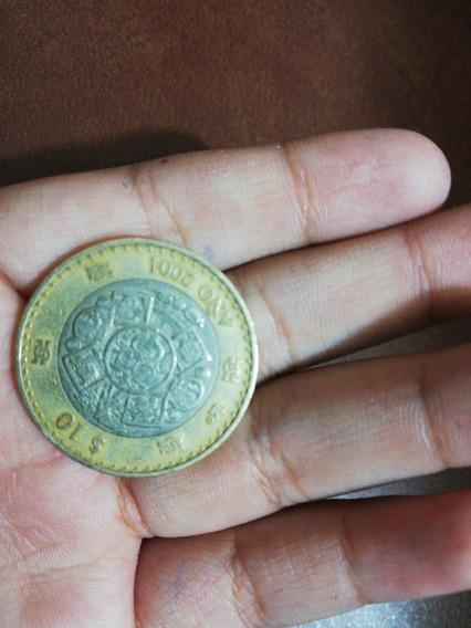 Moneda De 10 Pesos De Año 2000