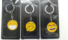 Chaveiros Emoji Diversos Chaveiro Emoticon Carinhas Metal