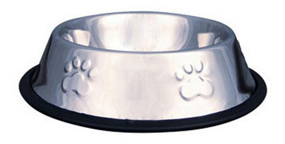 Comedouro / Bebedouro Inox Antiderrapante Cães E Gatos 240ml