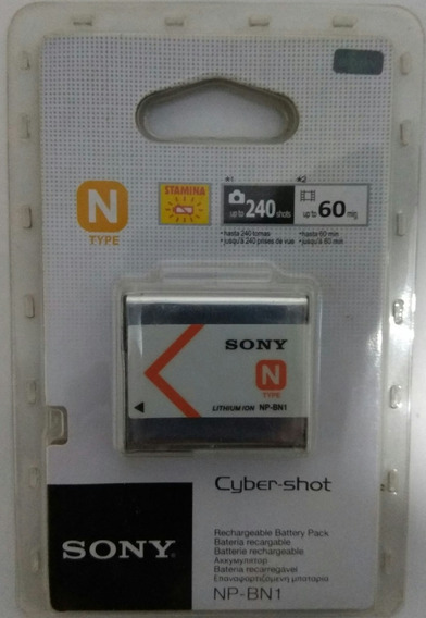 Battery Original Sony Lithium-ion Np-bn1- 3.6v-2.2wh 630mah