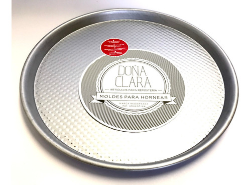 Pizzera Doña Clara N°6 (32 Cm) Chapa Aluminizada