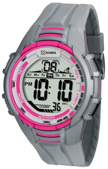 Relógio X-games Feminino Digital Xmppd380 Bxgx Rosa Cinza