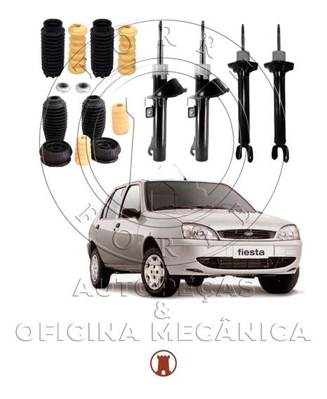 4 Amortecedor+4 Kit Suspensão Fiesta 96 97 98 99 00 01 02 03