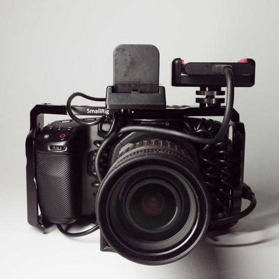 Blackmagic Pocket 4k C/ Lente & Ssd + Acessórios! Kit