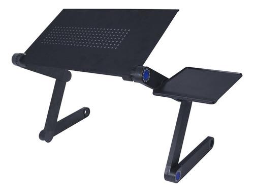 Suporte De Cama Desk Slim C/ Mousepad P/ Notebook   Preto